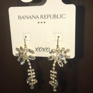 Banana Republic Stunning  Floral Geo Earrings NWT